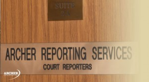 door with name plate - Archer Court Reporters